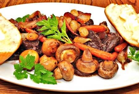 говядина грибы морковь зелень