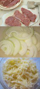 отбивные лук картошка тертая