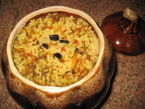 рис говядина горшочек готовое