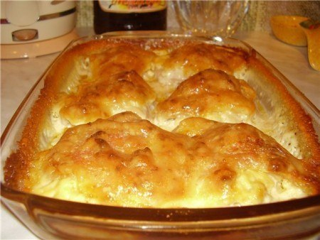 куриные бедра запеченные в сырной шубе