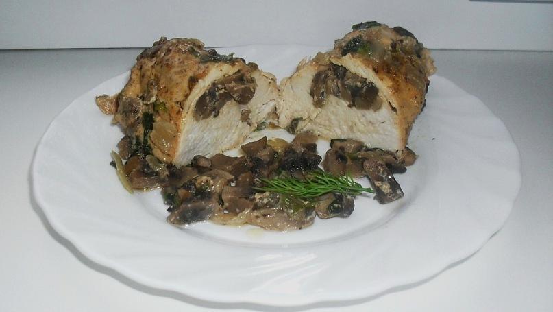 куриное филе фаршированное грибами
