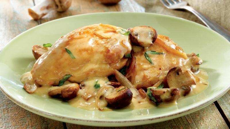 курица в соусе с шампиньонами из духовки