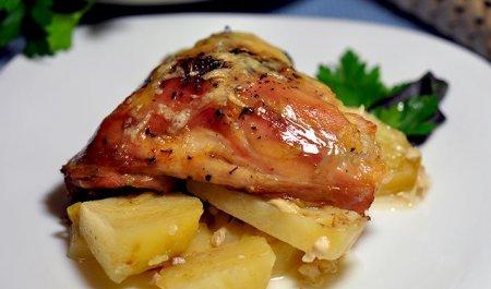 окорочок с картошкой