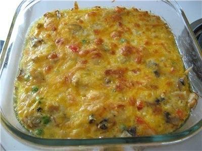 запеканка из курицы с овощами и сыром