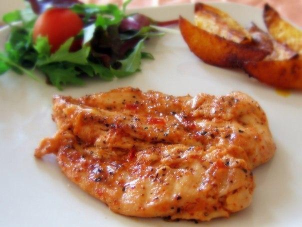курица запеченная в сливочном соусе