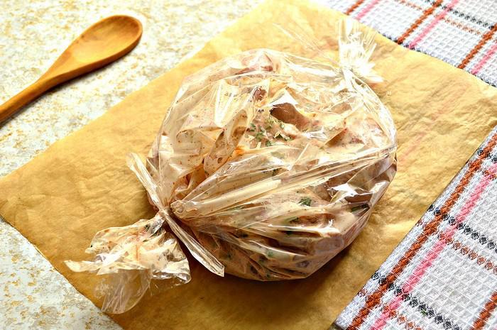 бедро круиное в рукаве с сырным соусом