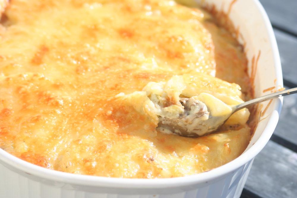 рисовая запеканка с курицей и сыром