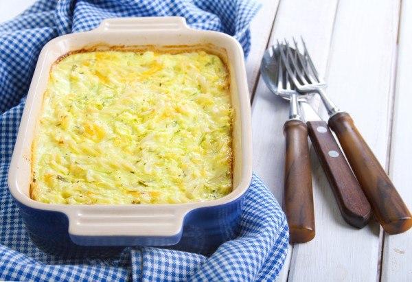 Картошка с кабачками в духовке - запеканка