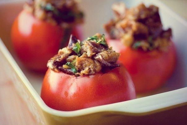 Фаршированные томаты запеченные в духовке