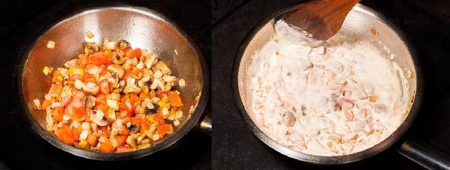 Обжарка овощей со сливками