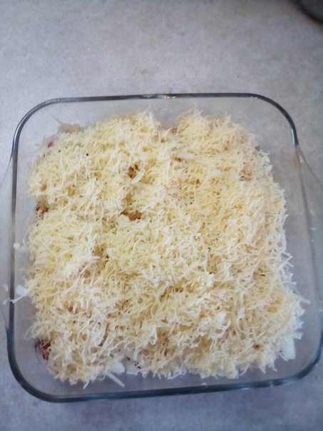 Посыпка из тертого сыра