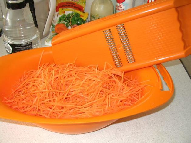 Морковь и терка