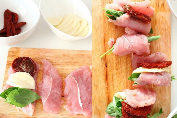 Начинка кусочков мяса
