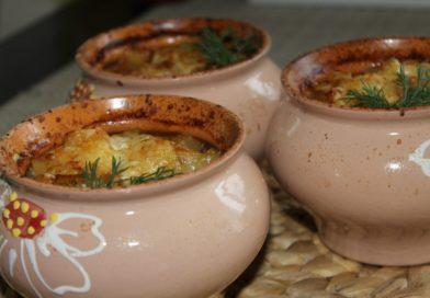 говядина с грибами в горшочке в духовке