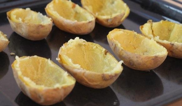 Половинки картофеля