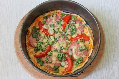 Пицца после запекания