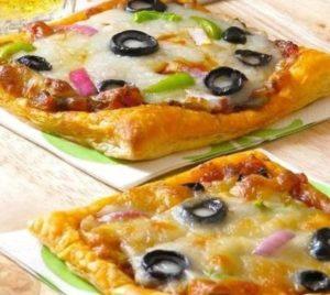 Воздушная пицца на тесте