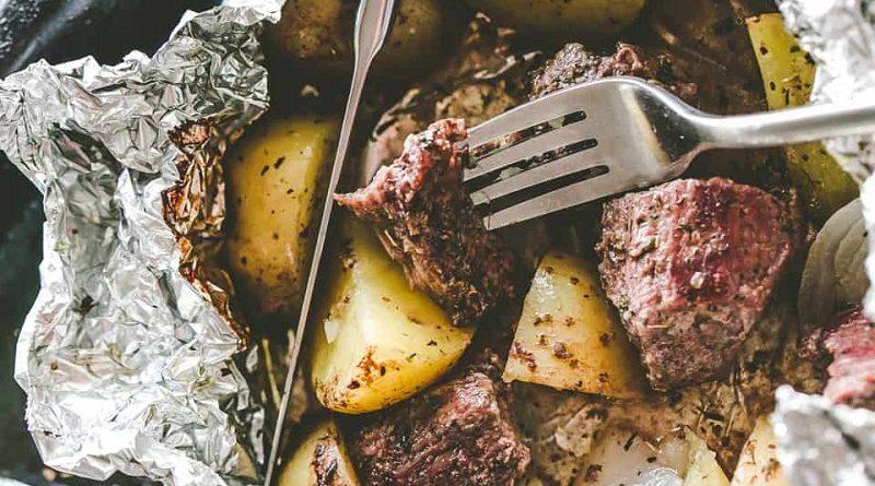 говядина в духовке в фольге с картошкой
