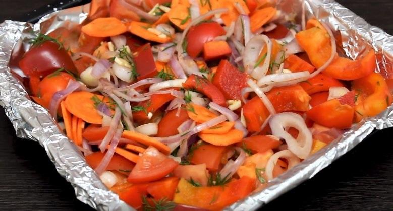 Овощи на первом этапе приготовления