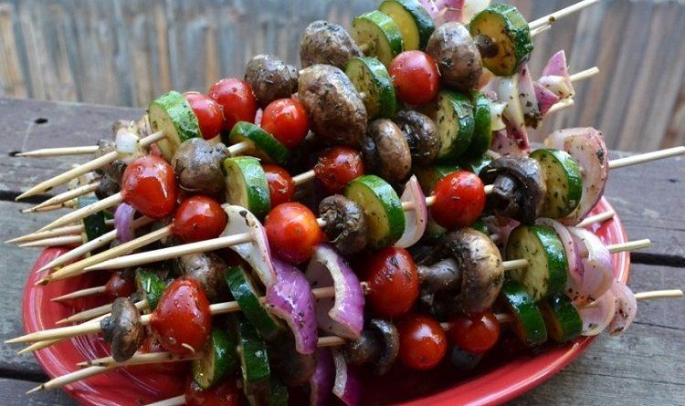 шашлык из овощей в духовке
