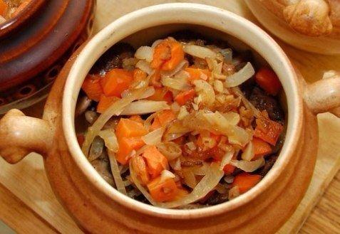 овощи в духовке в горшочке