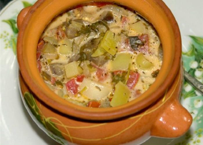 Запеченные овощи в горшочке