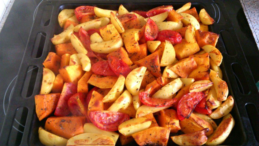 Гарнир из тыквы и овощей