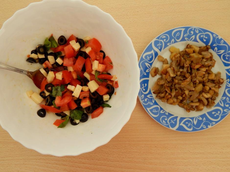 Подготовка овощной начинки