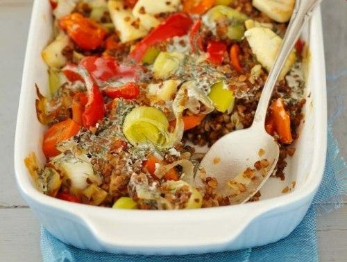 Запеканка из овощей и гречки