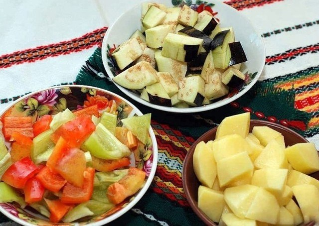 Вариант нарезки овощей