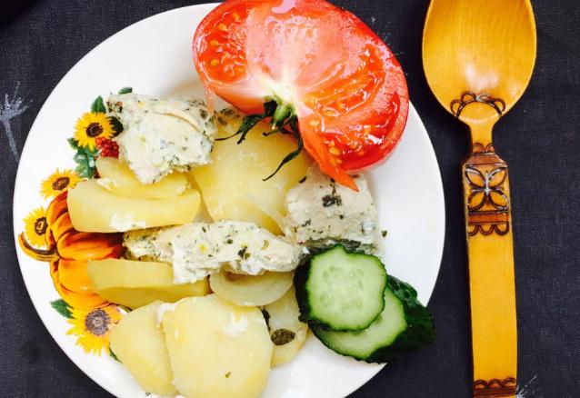 индейка с картошкой со сметаной в духовке