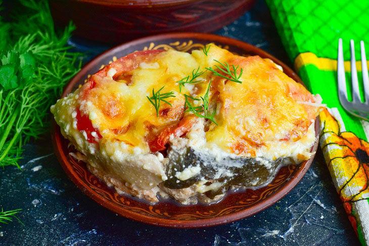Горбуша по-французски - готовое блюдо